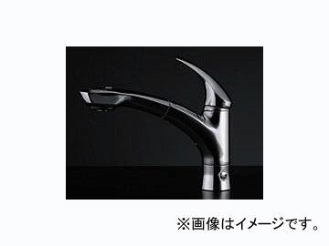 カクダイ シングルレバー引出し混合栓(分水孔つき) 品番:118-027 JAN:4972353118762
