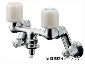カクダイ 洗濯機用混合栓(ストッパーつき) 品番:127-303 JAN:4972353055012