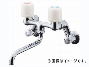 カクダイ 2ハンドル混合栓 品番:128-021 JAN:4972353055036