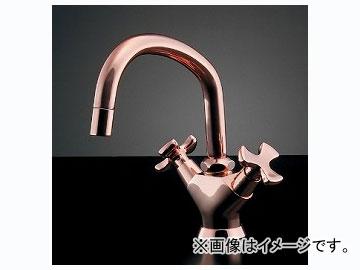 カクダイ 2ハンドル混合栓(ピンクゴールド) 品番:150-425 JAN:4972353016327