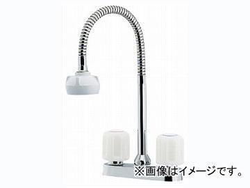 カクダイ 2ハンドル混合栓(シャワーつき) 品番:151-007K JAN:4972353007592