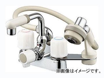 カクダイ 2ハンドル混合栓(シャワーつき) 品番:1521S JAN:4972353166701
