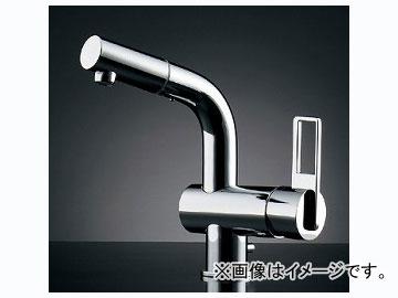 カクダイ シングルレバー引出し混合栓(排水上部セットつき) 品番:184-021 JAN:4972353013425