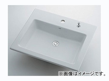 カクダイ 角型洗面器 1ホール・ポップアップ独立つまみタイプ 品番:493-008H JAN:4972353003198