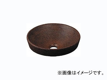 カクダイ 丸型手洗器 窯肌 品番:493-012-M JAN:4972353493340