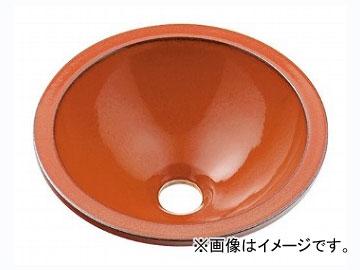 カクダイ 丸型手洗器 鉄赤 品番:493-013-R JAN:4972353030675