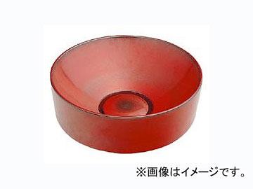 カクダイ 丸型手洗器 鉄赤 品番:493-023-R JAN:4972353493227