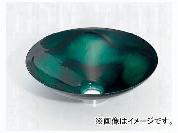 カクダイ 丸型手洗器 緑透 品番:493-047-GR JAN:4972353030774