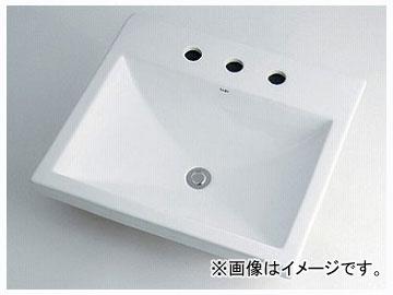 カクダイ 角型洗面器 3ホール 品番:493-092 JAN:4972353005444