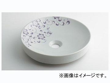 カクダイ 丸型手洗器 ラベンダー 品番:493-097-PU JAN:4972353046423
