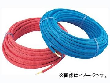 カクダイ 保温材つき架橋ポリエチレン管(青) 10A 品番:672-110-50B JAN:4972353672240