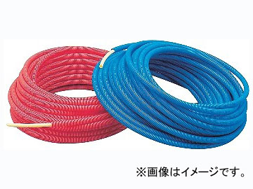 カクダイ サヤ管つき架橋ポリエチレン管(青) 16A×28 品番:672-133-30B JAN:4972353672363