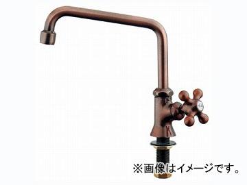 カクダイ カラー泡沫立形自在水栓(ブロンズ) 品番:700-712-13 JAN:4972353031245