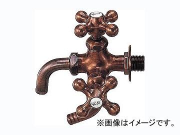 カクダイ カラー万能ホーム双口水栓 ブロンズ 品番:7041FBP-13 JAN:4972353704071