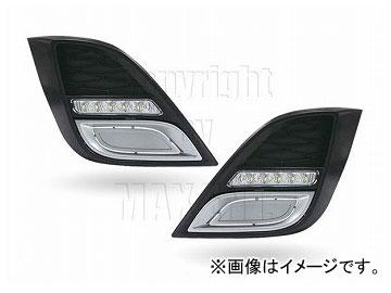 エムイーコーポレーション MAX Super Vision MAX-LEDデイタイムランニングライト付 フロントエアインテイク シルバートリム付 Type-2 品番:232734 アクセラ BL