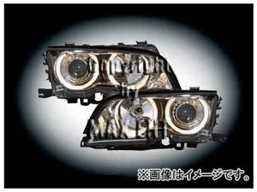 エムイーコーポレーション ZONE ハロゲンヘッドライト/4-ホワイトリングライト付 タイプ-1 品番:231572 BMW E46 クーペ ~2001年