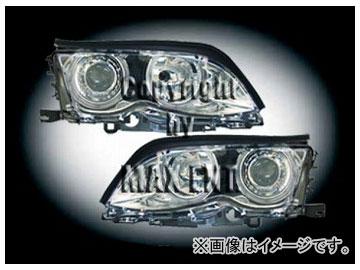 エムイーコーポレーション ZONE ハロゲンヘッドライト/4-クリスタルホワイトリングライト付 タイプ-2 品番:233027 BMW E46 セダン 2002年~2004年