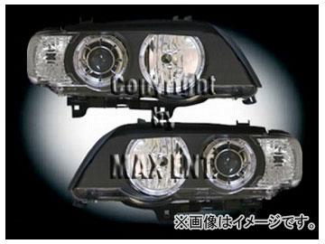 エムイーコーポレーション ZONE ハロゲンヘッドライト/4-ホワイトリングライト付 タイプ-1 品番:290106 BMW E53 X5 ~2003年