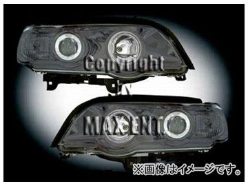 エムイーコーポレーション ZONE ハロゲンヘッドライト クリスタルホワイトリングライト付 タイプ-1 品番:232982 BMW E53 X5 2000年~2003年