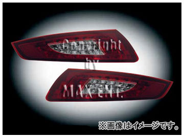 エムイーコーポレーション ZONE LEDテールレンズ '09-ルック スモーク/ダーク レッド タイプ-1 品番:210596 ポルシェ 997 ~2008年