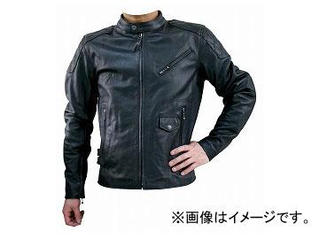2輪 モトフィールド シングルレザージャケット キングサイズ ブラック 選べる2サイズ MF-LJ101K
