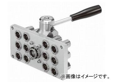 日東工器 マルチカプラ ソケット(12ポート/プレート:大) MAM-A-3S12