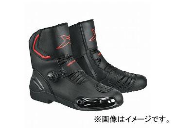 2輪 EXUSTAR ブーツ ブラック 選べる6サイズ E-SBR2141W