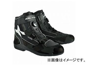 2輪 EXUSTAR ブーツ ブラックカモ 選べる6サイズ E-SBT271W