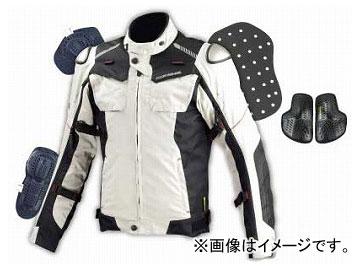 2輪 コミネ JK-588 フルイヤーチタニウムジャケット Light Grey/Black 選べる6サイズ 07-588