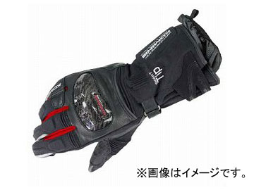 2輪 コミネ GK-822 カーボンプロテクトツアラーウインターグローブ Black/Red 選べる6サイズ 06-822