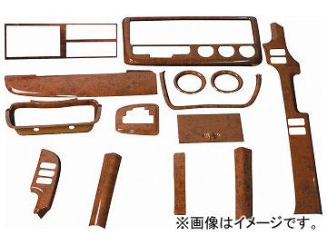 ジェットイノウエ インテリア3Dパネル 茶木目 基本セット 595471 三菱ふそう ブルーテックキャンター 標準車 2010年11月~
