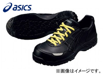 アシックス/ASICS 静電気帯電防止靴 ウィンジョブ E50S FIE50S 9090:ブラック×ブラック