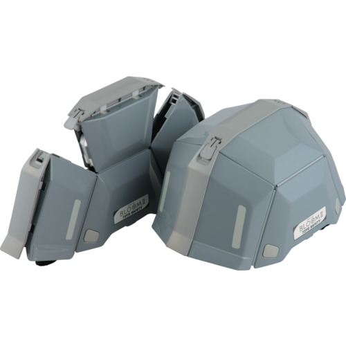 トーヨーセフティー BLOOM II 折りたたみヘルメット 防災用 No.101 グレー 入数:40個