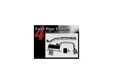 アーキュレー/ARQRAY マフラー ツイン パイプ システム/Twin Pipe System BMW E87 130i M スポーツ ABA-UF30 【smtb-F】