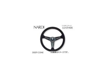 ナルディ/NARDI ステアリング クラシック/CLASSIC LEATHER SPORTS TYPE ラリー スエード レッドステッチ ディープコーンタイプ 350mm(オフセット80mm) N754