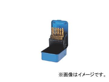 三菱マテリアル/MITSUBISHI コーティングドリルセット(スチールケース入り) 一般鋼用 19本セット GSDSET19