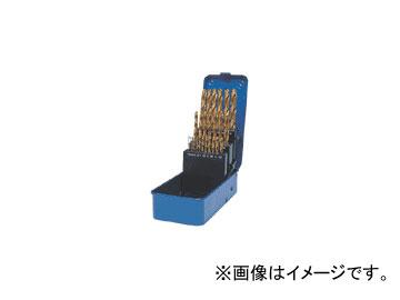 三菱マテリアル/MITSUBISHI コーティングドリルセット(スチールケース入り) 一般鋼用 25本セット GSDSET25
