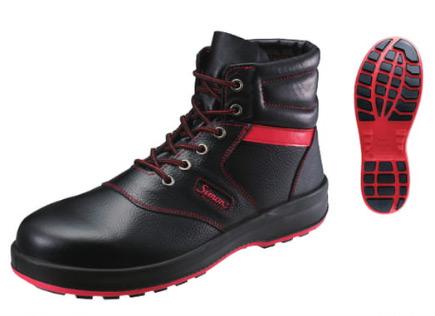 シモン/Simon 安全靴 SX3層底 シモンライト SL22-R 黒/赤 サイズ:23.5~28