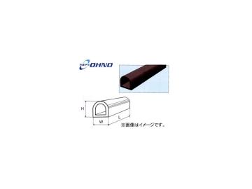 大野ゴム/OHNO D型カーストッパー カット加工無(当板金具、穴加工共無) CSD2135-2