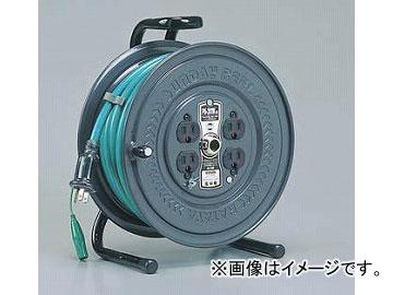 ハタヤリミテッド/HATAYA 極太ケーブル3.5mm^2仕様 アッパーリール 100V型 【接地付】 20m アースグリーン PS-201K JAN:4930510405285 入数:1台