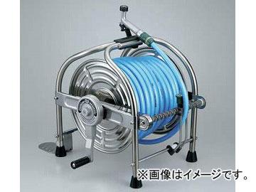 ハタヤリミテッド/HATAYA ステンレスホースリール 40m耐圧ホース レバーノズル付・一次側ホース1.5m付 SLA-40P JAN:4930510418155 入数:1台