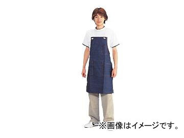 川西工業/KAWANISHI ジーンズ胸当 前掛 タスキ ポケット付 #652 紺 サイズ:約60×83cm JAN:4906554152812 入数:10枚