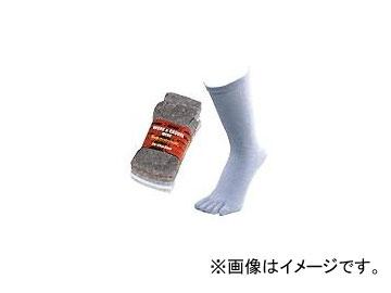 川西工業/KAWANISHI のびのび5本指 杢 5足組 #6064 色込 サイズ:25-27cm JAN:4906554050088 入数:40組