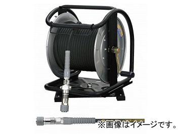 大好き ブラック JAN:4984546604402:オートパーツエージェンシー ロック一発カプラ 回転台 スチール フジマック/FUJIMAC 高圧用C型ドラム GHD-630TC 30m (スーパースムージーホース付)-DIY・工具