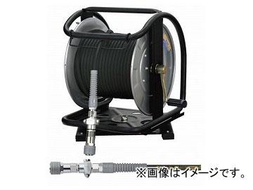 ずっと気になってた ブラック 高圧用C型ドラム GHDB-630TC 30m スチール (スーパースムージーホース付) ダスターソケット フジマック/FUJIMAC 回転台 JAN:4984546605096:オートパーツエージェンシー-DIY・工具