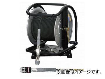 フジマック/FUJIMAC 高圧用C型ドラム (スーパースムージーホース付) オートロックスウィングカプラ ステンレス ブラック 30m GHDAL-530C-S JAN:4984546605331