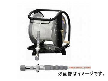 フジマック/FUJIMAC 高圧用C型ドラム(スムージーホース付) ダスターソケット スチール 回転台 ホワイト 30m WHDB-630TC JAN:4984546603429