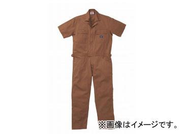 山田辰/YAMADA TATSU ディッキーズ/Dickies 半袖ツヅキ服 712 ブラウン サイズ:4L/5L