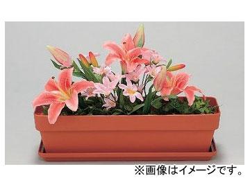 ユニット/UNIT 造花プランター 茶 ゆり 品番:935-23
