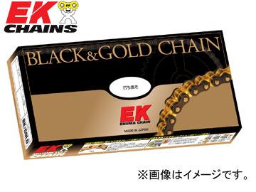 2輪 EK/江沼チヱン シールチェーン NXリング ブラック&ゴールド 530ZVX3(BK,GP) 108L 継手:MLJ カジバ 750 エレファント 900